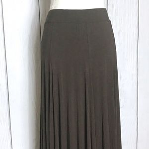 Soft Surroundings Brown Maxi Skirt